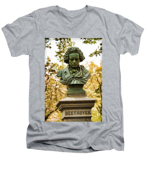 Beethoven In Central Park Men's V-Neck T-Shirt