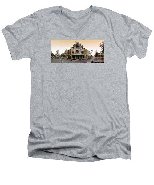 Before The Gates Open Magic Kingdom Main Street. Men's V-Neck T-Shirt