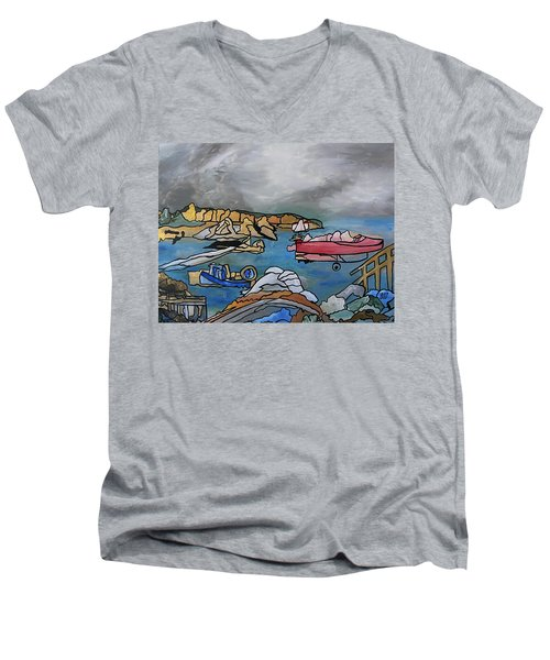 Before The Storm Men's V-Neck T-Shirt by Barbara St Jean