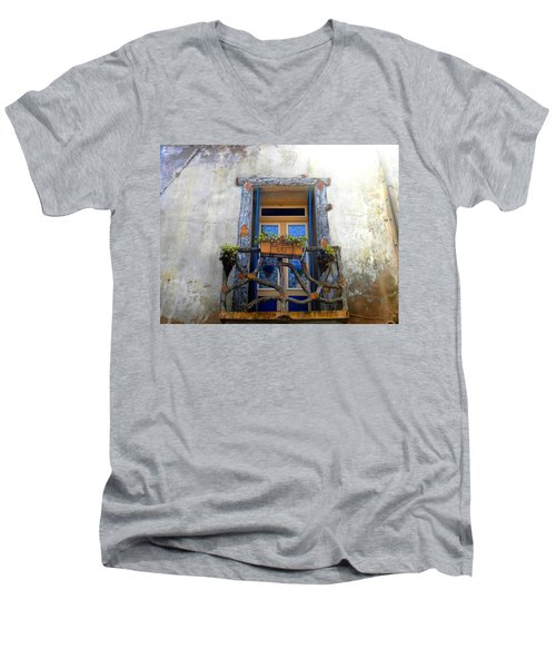 Behind The Window ... Men's V-Neck T-Shirt