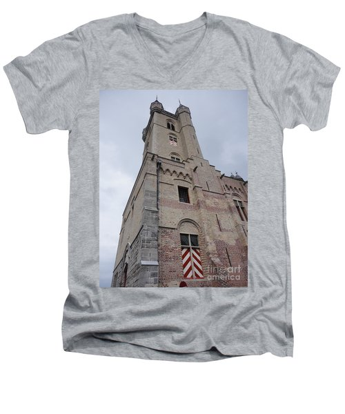 Belfry In Sluis Holland Men's V-Neck T-Shirt