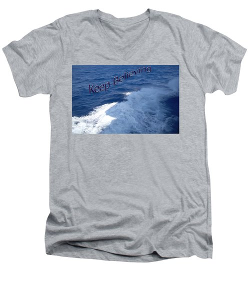 Men's V-Neck T-Shirt featuring the photograph Believe by Aimee L Maher Photography and Art Visit ALMGallerydotcom