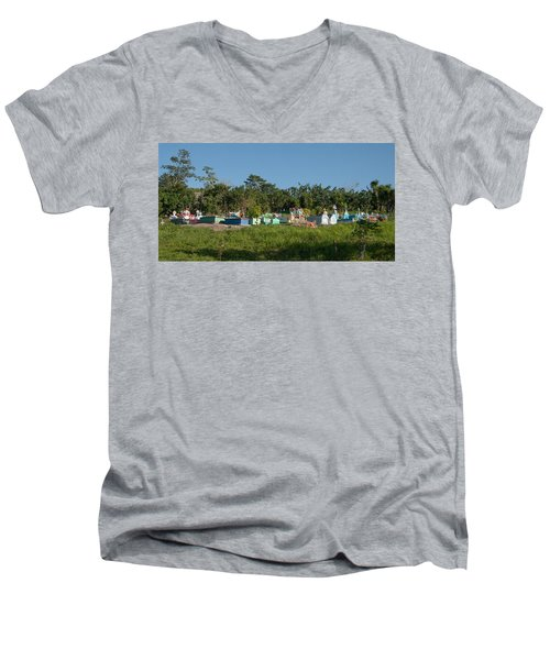 Belize Cemetery Men's V-Neck T-Shirt