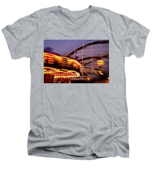 Did I Dream It Belmont Park Rollercoaster Men's V-Neck T-Shirt