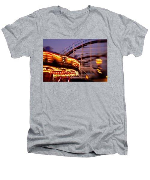 Did I Dream It Belmont Park Rollercoaster Men's V-Neck T-Shirt