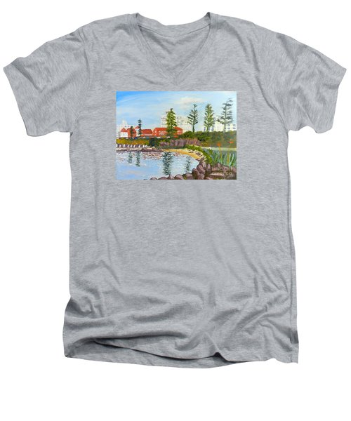 Belmore Basin From The North Sea Wall Men's V-Neck T-Shirt by Pamela  Meredith
