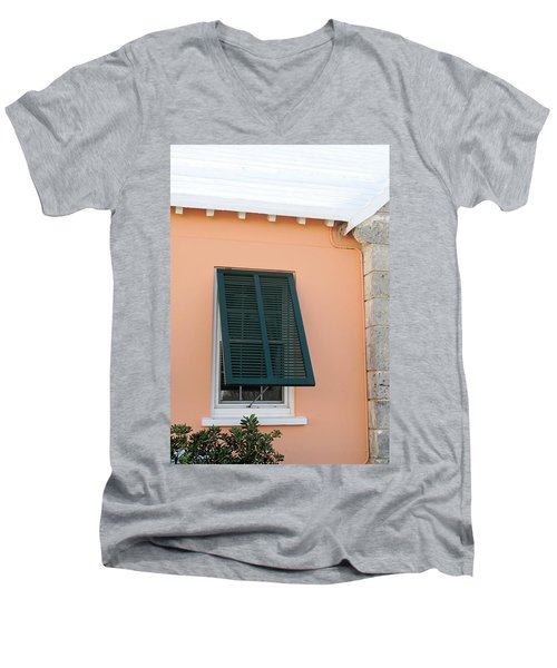 Bermuda Shutters Men's V-Neck T-Shirt by Ian  MacDonald