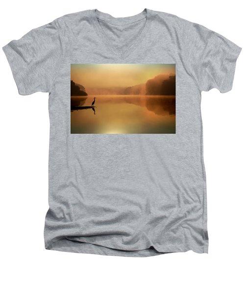 Beside Still Waters Men's V-Neck T-Shirt by Rob Blair