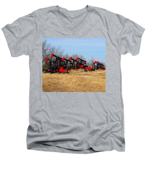 Bethlehem Pump Jacks Men's V-Neck T-Shirt