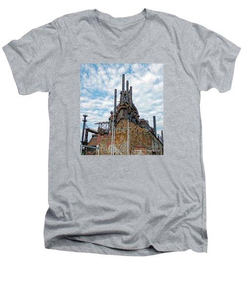 Bethlehem Steel # 2 Men's V-Neck T-Shirt