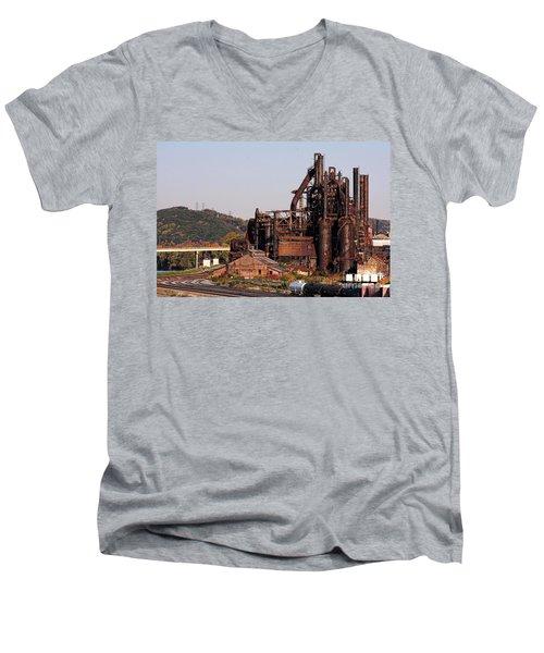 Bethlehem Steel # 8 Men's V-Neck T-Shirt