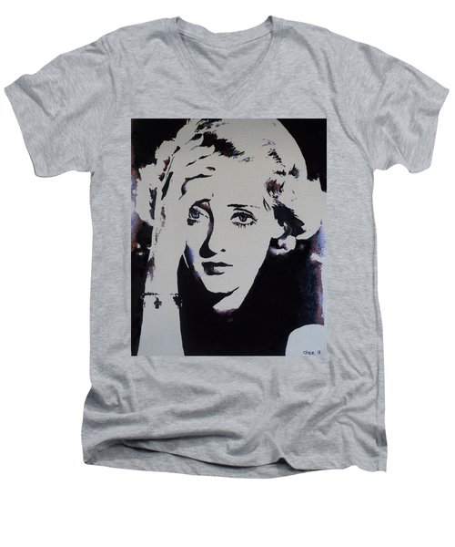 Bette Davis Men's V-Neck T-Shirt
