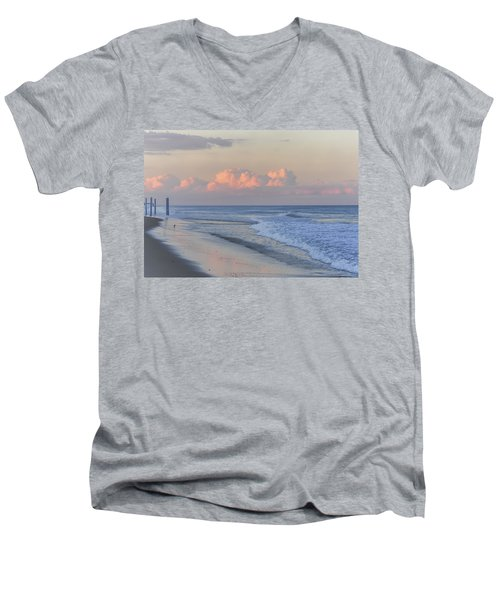 Better Days Ahead Seaside Heights Nj Men's V-Neck T-Shirt