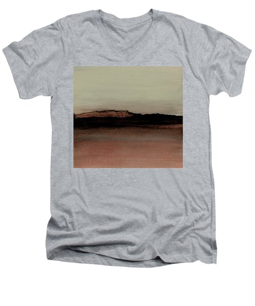 Between The Woods And Frozen Lake  Number 1133-10 Men's V-Neck T-Shirt