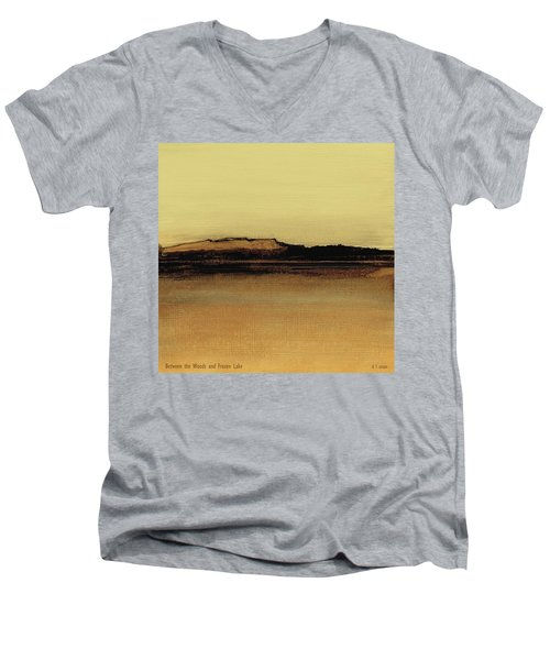 Between The Woods And Frozen Lake   Number Five Men's V-Neck T-Shirt