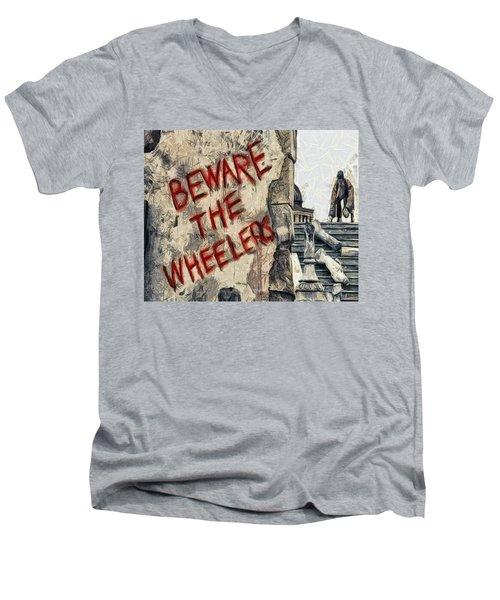 Beware The Wheelers Men's V-Neck T-Shirt