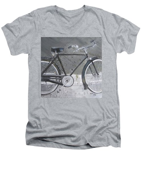 Bicycle In Rome Men's V-Neck T-Shirt by Claudia Goodell
