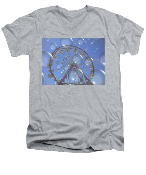Big B Bubble Ferris Wheel Men's V-Neck T-Shirt