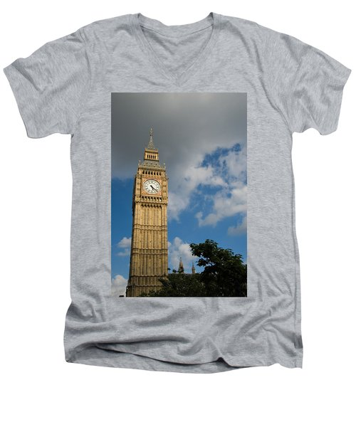 Men's V-Neck T-Shirt featuring the photograph Big Ben by Jeremy Voisey