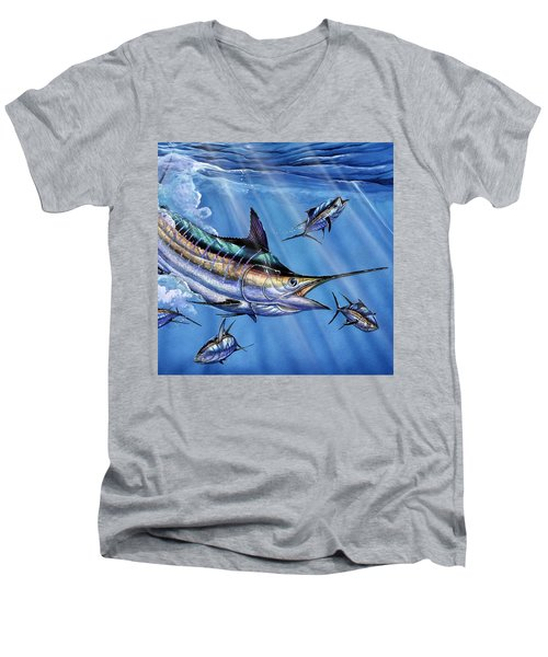 Big Blue And Tuna Men's V-Neck T-Shirt