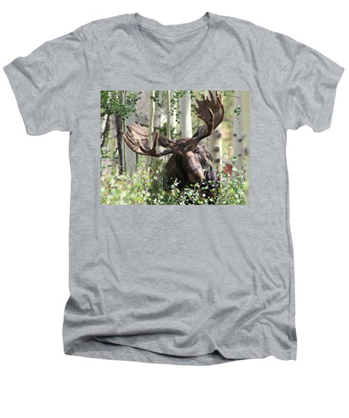 Big Daddy The Moose 3 Men's V-Neck T-Shirt