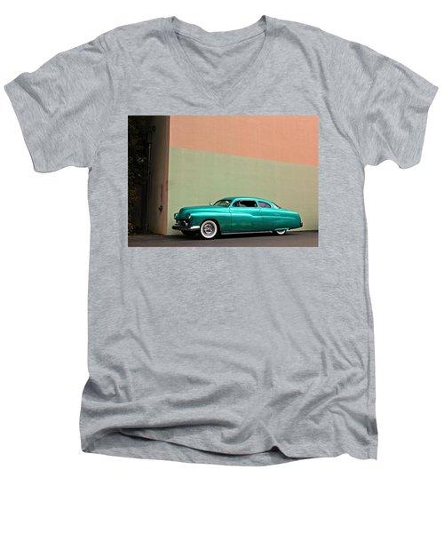Big Green Merc Just Around The Corner Men's V-Neck T-Shirt