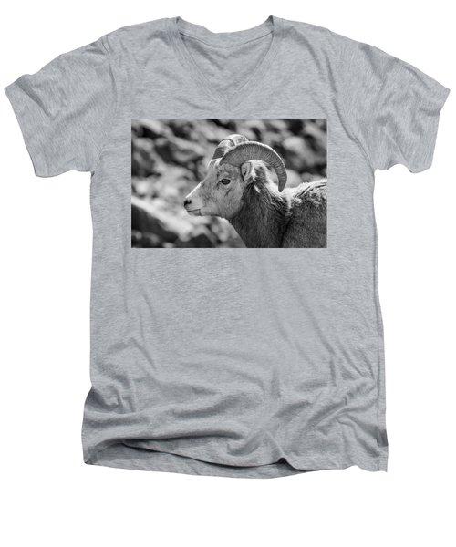 Big Horn Sheep Profile Men's V-Neck T-Shirt