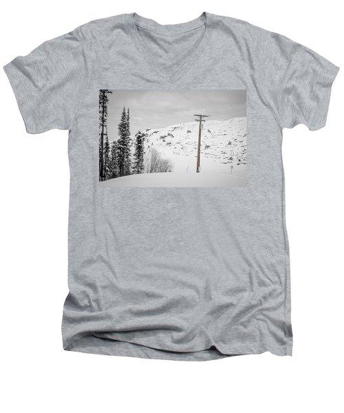 Big Horn Sheep Hinton Hillside Men's V-Neck T-Shirt