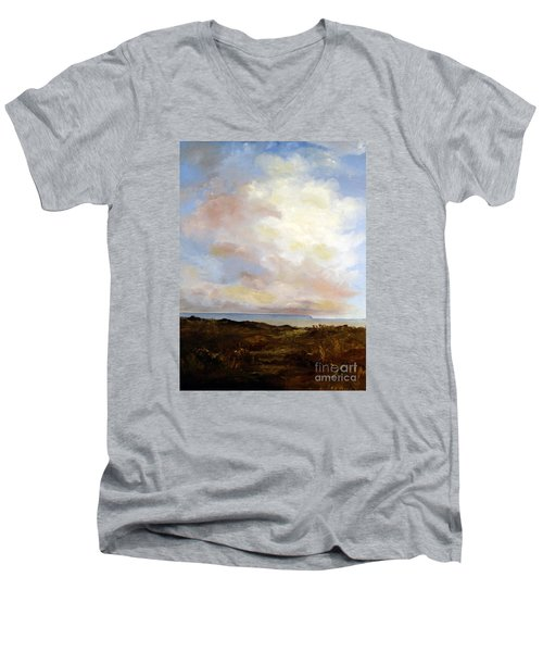 Big Sky Country Men's V-Neck T-Shirt by Lee Piper