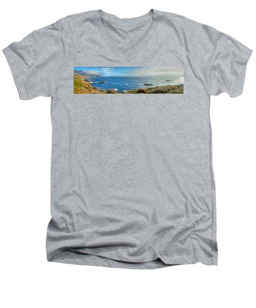 Big Sur Coast Pano 2 Men's V-Neck T-Shirt