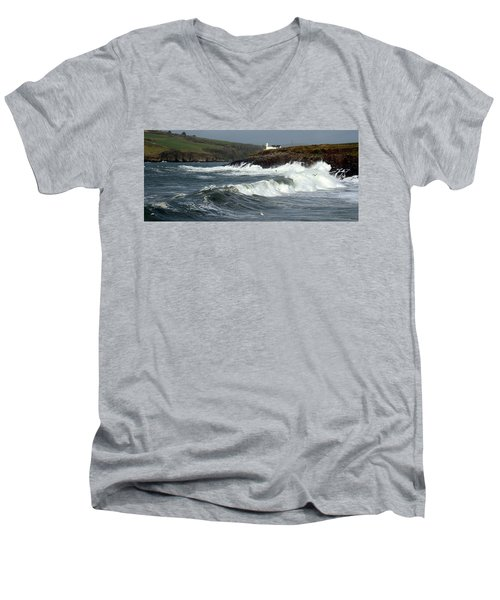 Big Swell In Dingle Bay Men's V-Neck T-Shirt
