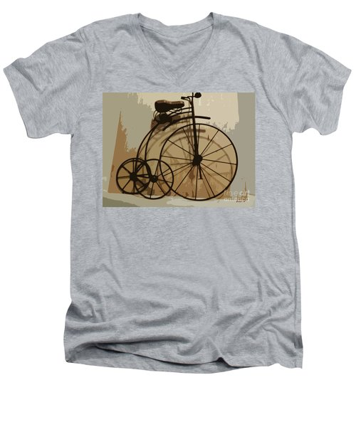 Men's V-Neck T-Shirt featuring the photograph Big Wheel Trike by Ecinja Art Works