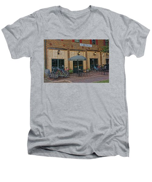 Bike Shop Cafe Katty Trail St Charles Mo Dsc00860 Men's V-Neck T-Shirt