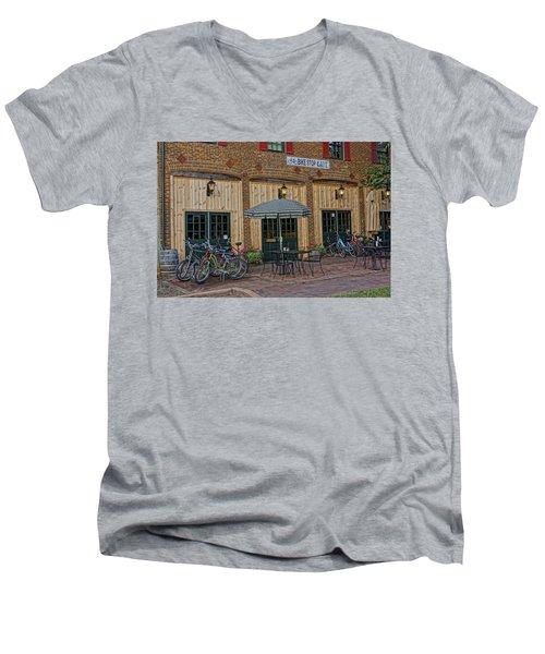 Bike Shop Cafe Katty Trail St Charles Mo Dsc00860 Men's V-Neck T-Shirt by Greg Kluempers