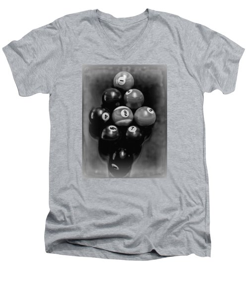 Billiards Art - Your Break - Bw  Men's V-Neck T-Shirt