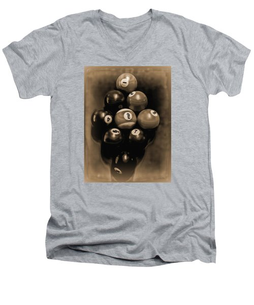 Billiards Art - Your Break - Bw Opal Men's V-Neck T-Shirt