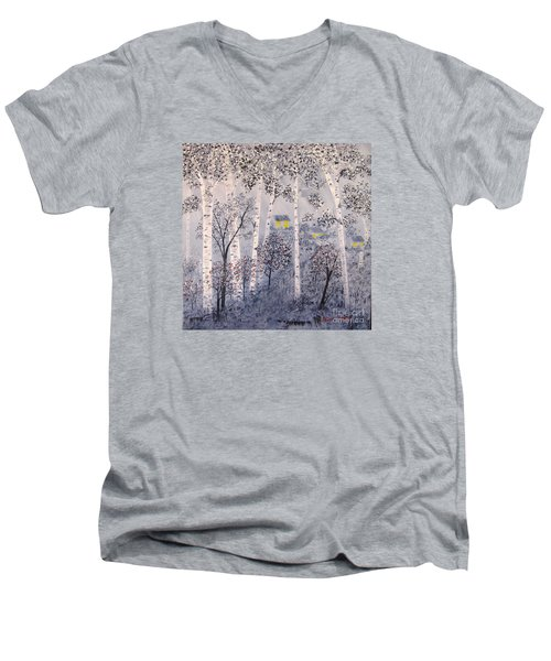 Birch Trees Men's V-Neck T-Shirt