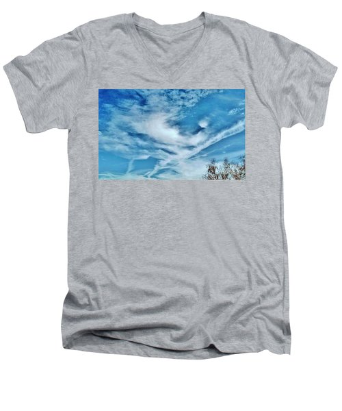 Bird Cloud Soaring By Men's V-Neck T-Shirt