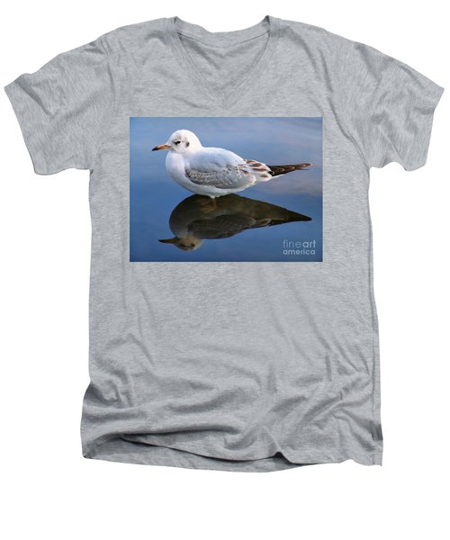 Bird Reflections Men's V-Neck T-Shirt by John Swartz