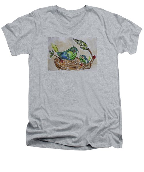 Bird Talk Men's V-Neck T-Shirt