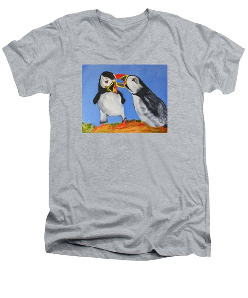 A Mother's Love Men's V-Neck T-Shirt by Meryl Goudey