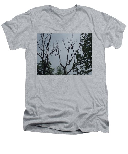 Men's V-Neck T-Shirt featuring the photograph Birds by Fortunate Findings Shirley Dickerson