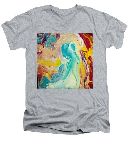 Birthing Chamber Men's V-Neck T-Shirt by Kelly Turner
