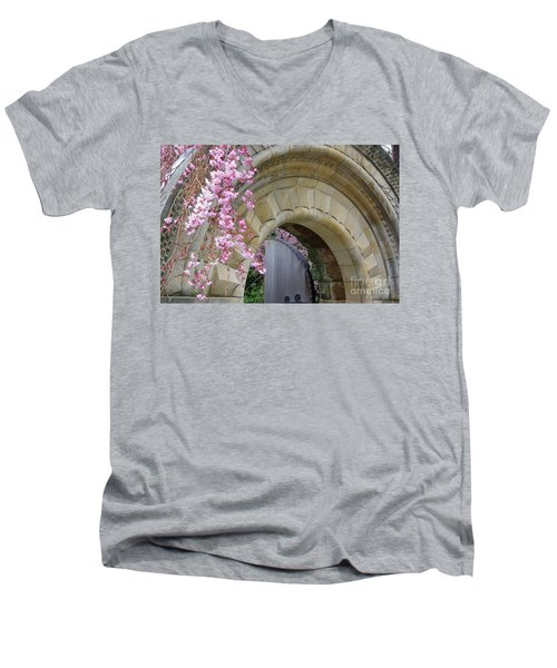 Men's V-Neck T-Shirt featuring the photograph Bishop's Gate by John S