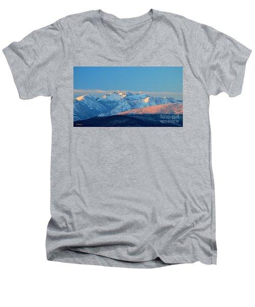Bitterroot Mountain Morning Men's V-Neck T-Shirt