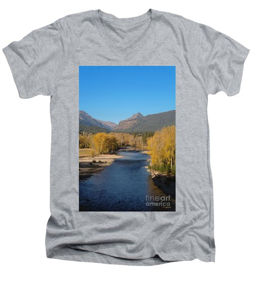 Bitterroot River Fall Men's V-Neck T-Shirt