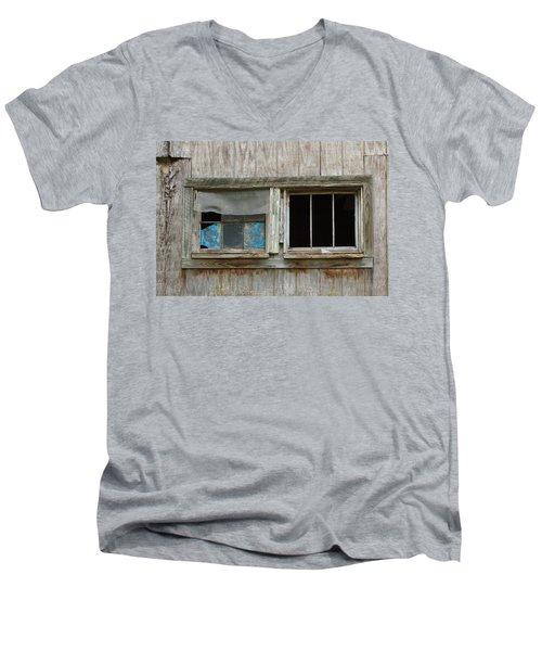 Black And Blue Men's V-Neck T-Shirt