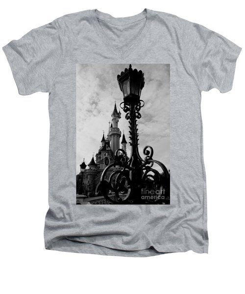 Black And White Fairy Tale Men's V-Neck T-Shirt