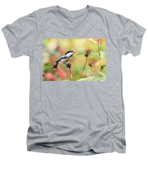 Black Capped Chickadee 1 Men's V-Neck T-Shirt