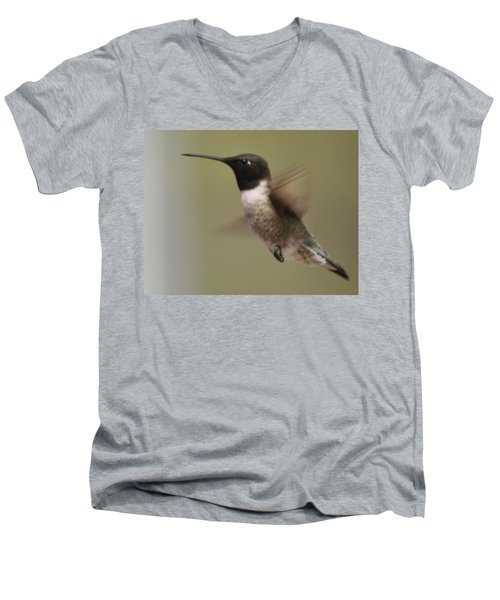 Black-chinned Hummingbird Men's V-Neck T-Shirt